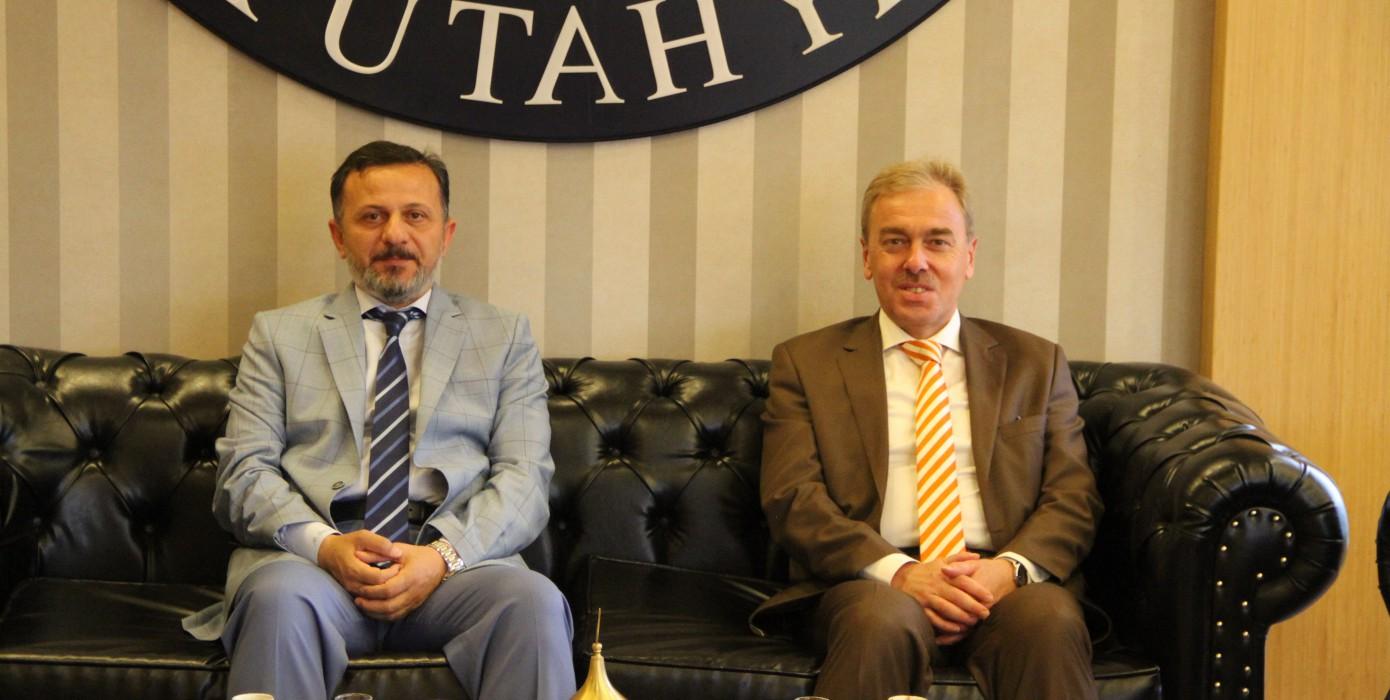 Rektörümüzden Kütahya Dumlupınar Üniversitesi Rektörüne Nezaket Ziyareti