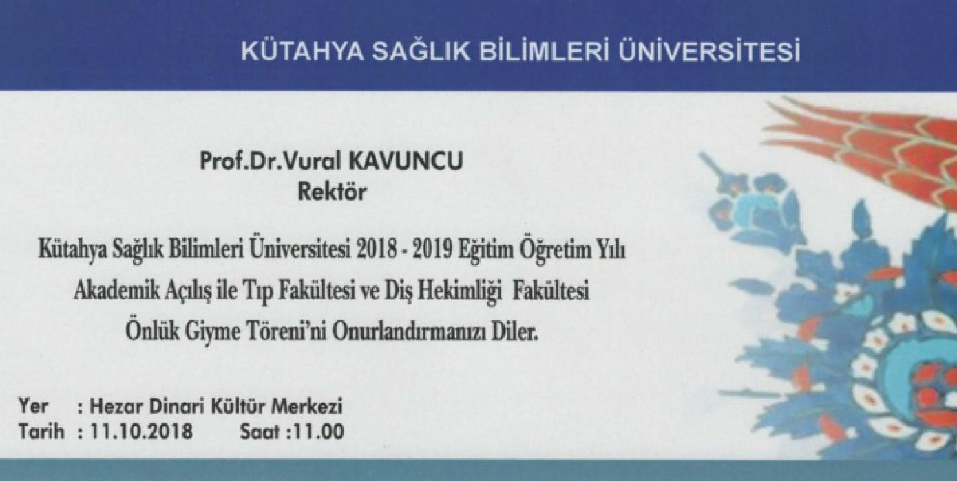Akademik Açılış ile Tıp Fakültesi ve Diş Hekimliği Fakültesi Önlük Giyme Töreni