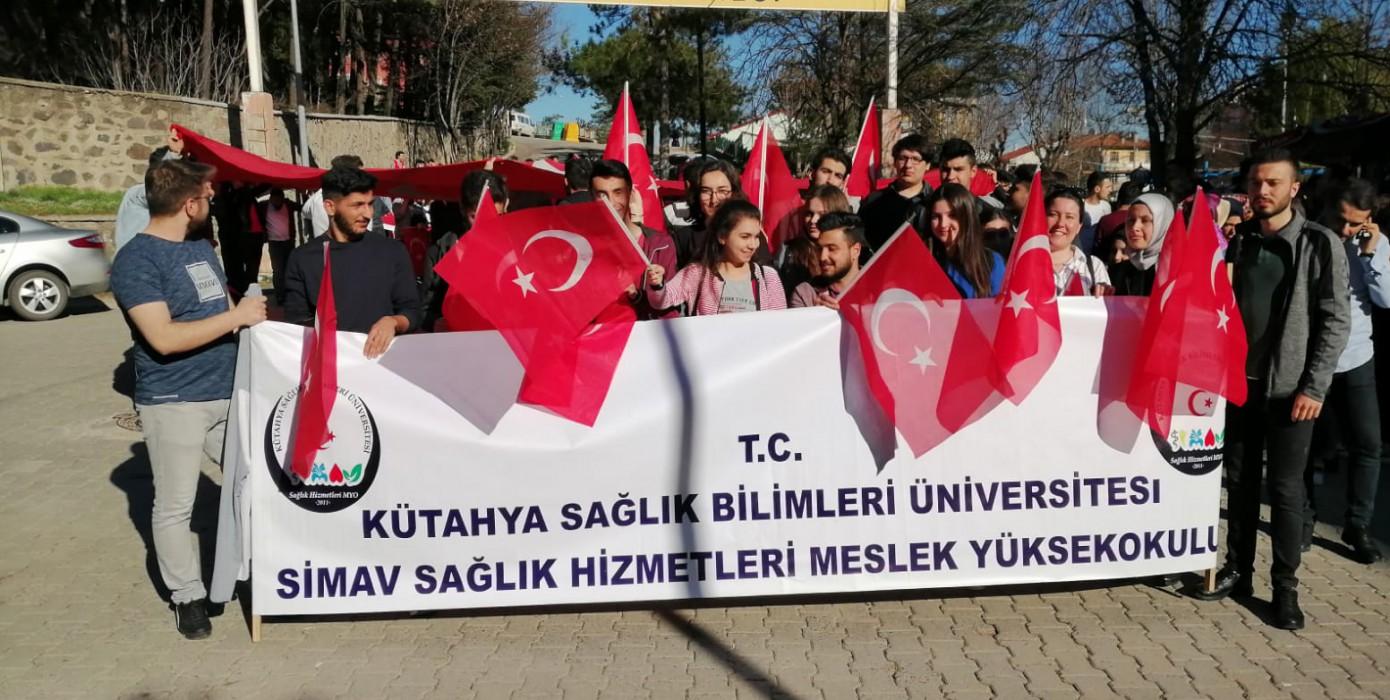 Meslek Yüksekokulumuz 18 Mart Şehitleri Anma Günü ve Çanakkale Zaferini Kutladı