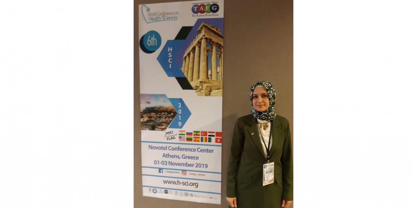 Meslek Yüksekokulumuz Öğr. Gör. Lütfiye Parlak ''6th World Conference On Health On Sciences'' Konferansında Sözlü Bildiri Sunumu Yaptı.