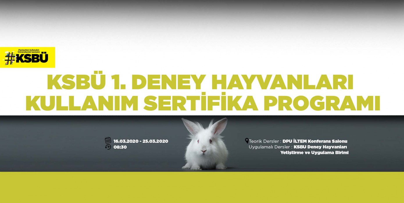 Ksbü 1. Deney Hayvanları Kullanım Sertifika Programı
