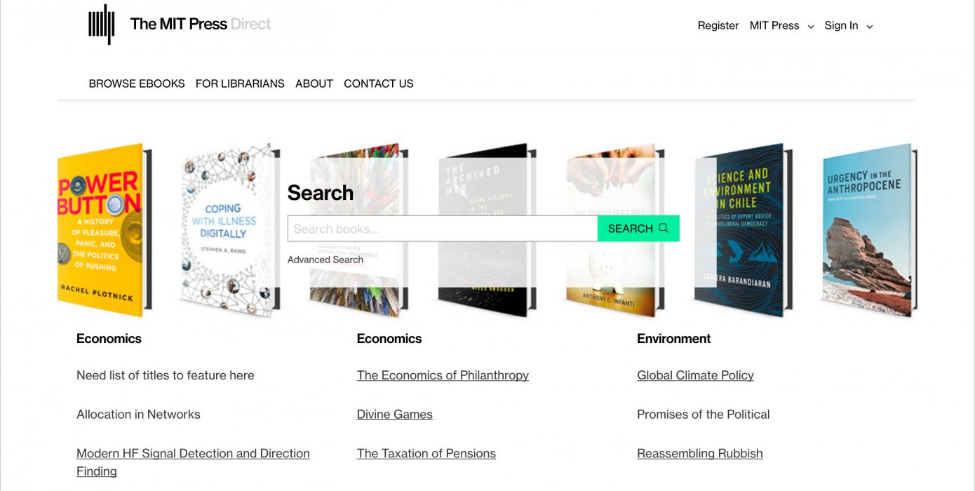 Mıt Press Direct Veri Tabanı Deneme Erişimine Açıldı.