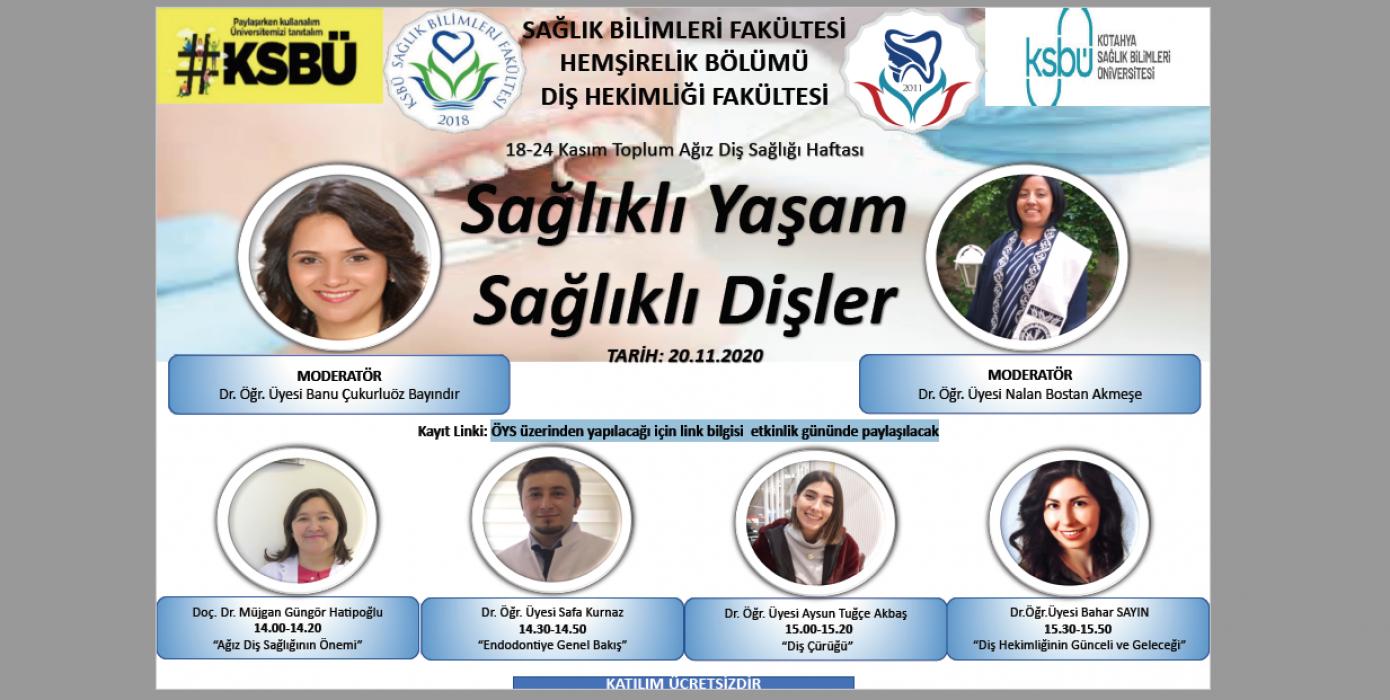 """""""18-24 Kasım Ağız Diş Sağlığı"""" Haftası Online Etkinlik"""